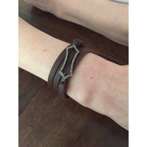 Leather and Diamond Bracelet